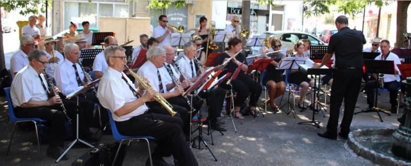 Groupe Musical du Nyonsais en concert à Nîmes en juin 2018