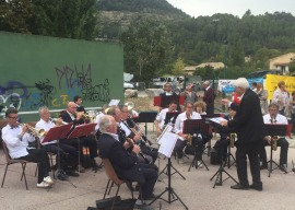 Concert du Groupe musical du nyonsais pour Les virades de l'espoir 30 septembre 2018 à Aubres_02